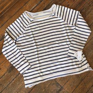Nordstrom Stem raglan cut striped sweatshirt